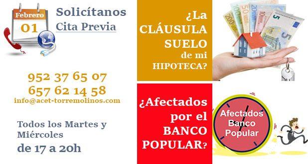 Acet asociaci n de comerciantes y empresarios de for Hipoteca clausula suelo banco popular